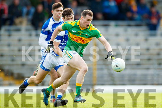 Mark Griffin South Kerry in action against Cian Sayers Kerins O'Rahillys in the Kerry Senior Football Championship Semi Final at Fitzgerald Stadium on Saturday.