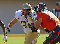 Georgia Tech defensive lineman Adam Gotsis (96) Georgia Tech football competes against Virginia in Charlottesville, VA. Photo/Andrew Shurtleff