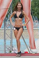 Anita Herbert attends the Miss Bikini Hungary beauty contest held in Budapest, Hungary on August 06, 2011. ATTILA VOLGYI