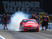 Jun 19, 2016; Bristol, TN, USA; NHRA pro stock driver Drew Skillman during the Thunder Valley Nationals at Bristol Dragway. Mandatory Credit: Mark J. Rebilas-USA TODAY Sports