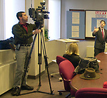 New York State Assemblyman Steve Levy speaking at a Press Conference held at the Offices of Nationwide Risk Management in Bohemia on Monday January 20, 2003, at which he outlined the platform for his campaign for Suffolk County Executive. (Newsday photo by Jim Peppler).
