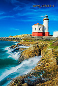 Tom Mackie, LANDSCAPES, LANDSCHAFTEN, PAISAJES, photos,+America, American, Americana, Bandon, Coquille River Lighthouse, North America, Oregon, Pacific Northwest, Pacific Ocean, Tom+Mackie, USA, blue, coast, coastal, coastline, coastlines, colorful, colourful, lighthouse,no people, ocean, portrait, red, r+ock, rocky, scenery, scenic, sea, seashore, seaside, shoreline, upright, vertical,America, American, Americana, Bandon, Coqui+lle River Lighthouse, North America, Oregon, Pacific Northwest, Pacific Ocean, Tom Mackie, USA, blue, coast, coastal, coastli+,GBTM170555-1,#l#, EVERYDAY