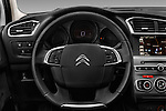 Car pictures of steering wheel view of a 2016 Citroen C4 Feel 5 Door Hatchback Steering Wheel