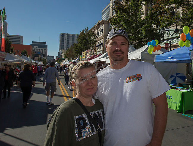 Daniel & Shelley McCarthy from Delhi, CA attend the 35th Annual Eldorado Great Italian Festival held in downtown Reno on Saturday, October 8, 2016.