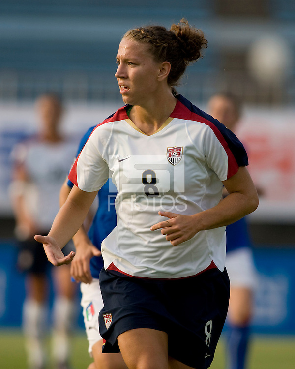 Lauren Cheney. The USWNT defeated, 2-0, at the Suwon Sports Center in Suwon, South Korea.