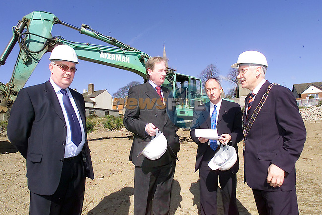 Eddie McGovern, Gerry Maguire, Minister Dermot Ahern TD and Mayor Jimmy Mulroy at the Launch of the New Town centre..Picture Fran Caffrey Newsfile..This Picture is sent to you by:..Newsfile Ltd.The View, Millmount Abbey, Drogheda, Co Louth, Ireland..Tel: +353419871240.Fax: +353419871260.GSM: +353862500958.ISDN: +353419871010.email: pictures@newsfile.ie.www.newsfile.ie