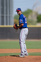 Texas Rangers pitcher Greyson Lambert (53) prepares to deliver a pitch to the plate during an Instructional League game against the San Diego Padres on September 20, 2017 at Peoria Sports Complex in Peoria, Arizona. (Zachary Lucy/Four Seam Images)