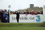 Lee Westwood playing his tee shot from the 5th hole during day two of the 3 Irish Open..Pic Fran Caffrey/golffile.ie