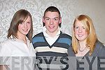 ATHLETICS: At the Kerry AAI Awards night in the Killarney Oaks Hotel last Friday were, l-r: Ciara Coffey (Beaufort), Paudie Whelan (Listry) and Amy Moriarty (Fossa)..
