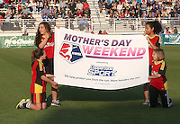 Boyds, MD - Saturday May 07, 2016: Banner before a regular season National Women's Soccer League (NWSL) match at Maureen Hendricks Field, Maryland SoccerPlex. Washington Spirit tied the Portland Thorns 0-0.