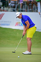 Angela Stanford (USA) watches her putt on 9 during round 2 of  the Volunteers of America Texas Shootout Presented by JTBC, at the Las Colinas Country Club in Irving, Texas, USA. 4/28/2017.<br /> Picture: Golffile | Ken Murray<br /> <br /> <br /> All photo usage must carry mandatory copyright credit (&copy; Golffile | Ken Murray)