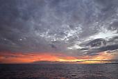 Sunset over Bermuda Island, a British island territory in the North Atlantic Ocean.