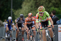 Reigning CX World Champion Wout Van Aert (BEL/Crelan-Vastgoedservice) is part of an elite group of escaped riders who'll lead the race for over 80km's <br /> <br /> Heistse Pijl 2016
