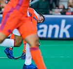 ROTTERDAM - Arjen Lodewijks (NED) scoort 4-0,     tijdens   de Pro League hockeywedstrijd heren, Nederland-Spanje (4-0) .  COPYRIGHT KOEN SUYK