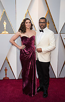 Chelsea Peretti and Jordan Peele, Oscar&reg; nominee for best picture, achievement in directing and achievement in writing (original screenplay), arrive on the red carpet of The 90th Oscars&reg; at the Dolby&reg; Theatre in Hollywood, CA on Sunday, March 4, 2018.<br /> *Editorial Use Only*<br /> CAP/PLF/AMPAS<br /> Supplied by Capital Pictures