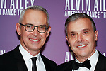 """Bennett Rink - Alvin Ailey American Dance Theater Executive Director (left) and David Bowen arrive at the Alvin Ailey American Dance Theater """"Modern American Songbook"""" opening night gala benefit at the New York City Center on November 29, 2017."""