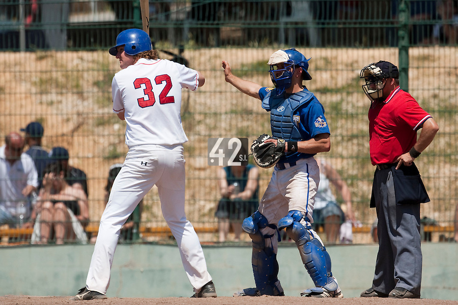 24 May 2009: Kyle Gruver of La Guerche is seen at bat during the 2009 challenge de France, a tournament with the best French baseball teams - all eight elite league clubs - to determine a spot in the European Cup next year, at Montpellier, France. Senart wins 8-5 over La Guerche.