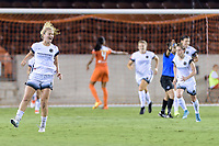 Houston, TX - Saturday July 08, 2017: Lindsey Horan celebrates her goal tying the score at 1-1 during a regular season National Women's Soccer League (NWSL) match between the Houston Dash and the Portland Thorns FC at BBVA Compass Stadium.