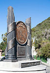 The Pillar of Hercules monument Gibraltar, British terroritory in southern Spain