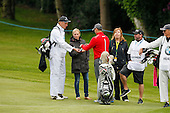 Martin Kaymer (GER) and Zara Phillips enjoy sweets from a caddie during the ProAm ahead of the 2016 BMW PGA Championships played over the West Course Wentworth from 26th to 29th May 2016. Picture Stuart Adams, www.golftourimages.com: 25/05/2016