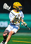 17 March 2012: University of Vermont Catamount LSM Derek Braig, a Sophomore from Reisterstown, MD, in action against the Sacred Heart University Pioneers at Virtue Field in Burlington, Vermont. The visiting Pioneers rallied to tie the score at 11 with five unanswered goals in the 4th period. However the Cats came back with only 10 seconds remaining in the game to defeat the Pioneers 12-11 in their non-conference matchup. Mandatory Credit: Ed Wolfstein Photo