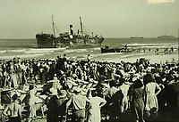 Parita at Tel Aviv Beach.<br /> <br />  22 August 1939