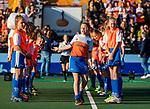 UTRECHT - Fan of the match met stockey en de wedstrijdbal   tijdens de Pro League hockeywedstrijd wedstrijd , Nederland-China . COPYRIGHT  KOEN SUYK