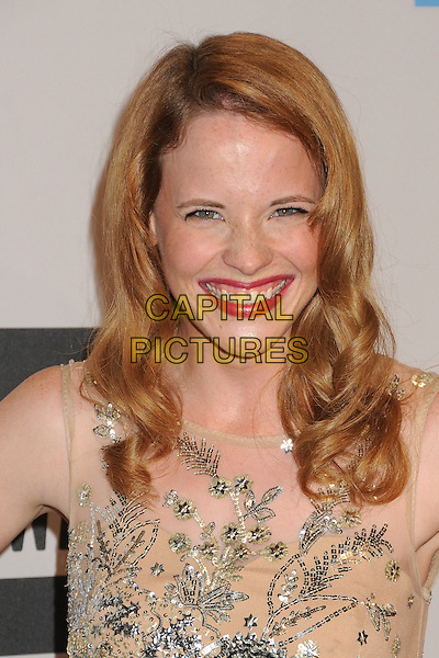 Katie Leclerc.2011 American Music Awards - Press Room held at Nokia Theatre LA Live, Los Angeles, California, USA..November 20th, 2011.ama amas ama's headshot portrait beige silver sequins sequined smiling beads beaded .CAP/ADM/BP.©Byron Purvis/AdMedia/Capital Pictures.