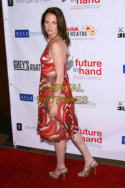 "SPRAGUE GRAYDEN.""Future In Hand"" benefit for UCLA's Surgical Endowment Fund, honoring ""Grey's Anatomy"" held at the Kodak Theatre, Hollywood, California, USA, 10 June 2006..full length red orange patterned print dress.Ref: ADM/ZL.www.capitalpictures.com.sales@capitalpictures.com.©Zach Lipp/AdMedia/Capital Pictures."