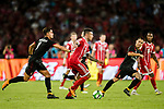 Bayern Munich Midfielder Corentin Tolisso (C) in action against AC Milan Forward Andre Silva (L) during the 2017 International Champions Cup China match between FC Bayern and AC Milan at Universiade Sports Centre Stadium on July 22, 2017 in Shenzhen, China. Photo by Marcio Rodrigo Machado/Power Sport Images