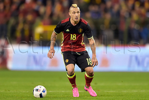 13.11.2015. Brussels, Belgium. International football friendly. Belgium versus Italy.  Nainggolan Radja midfielder of Belgium in action