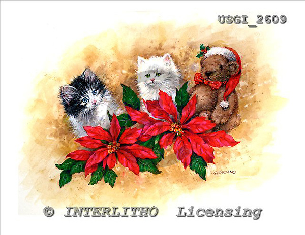 GIORDANO, CHRISTMAS ANIMALS, WEIHNACHTEN TIERE, NAVIDAD ANIMALES, paintings+++++,USGI2609,#XA#