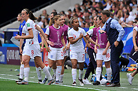 Celebration - Nikita Parris (England) - Philip Neville (entraineur de l England)<br /> Nice 09-06-2019 <br /> Football Womens World Cup <br /> England - Scotland <br /> Inghilterra - Scozia <br /> Photo Norbert Scanella / Panoramic/Insidefoto <br /> ITALY ONLY