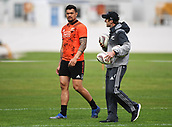 14th September 2017, Alexandra Park, Auckland, New Zealand; New Zealand Rugby Training Session;  Vaea Fifita and stength and conditioning coach Dr Nic Gill