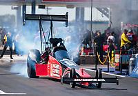 Oct 20, 2019; Ennis, TX, USA; NHRA top fuel driver Shawn Reed during the Fall Nationals at the Texas Motorplex. Mandatory Credit: Mark J. Rebilas-USA TODAY Sports