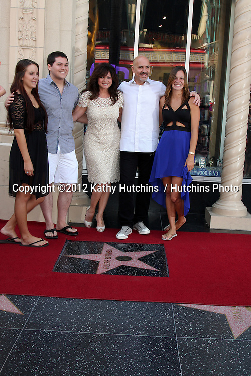 LOS ANGELES - AUG 22:  Valerie Bertinelli, Son Wolfgang Van Halen, and husband and his childrens at the ceremony for Valerie Bertinelli Hollywood Walk of Fame Star at Hollywood Blvd. on August 22, 2012 in Los Angeles, CA