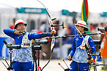 Ayano Kato (JPN), <br /> AUGUST 21, 2018 - Archery : <br /> Women's Recurve Individual Ranking Round <br /> at Gelora Bung Karno Archery Field <br /> during the 2018 Jakarta Palembang Asian Games <br /> in Jakarta, Indonesia. <br /> (Photo by Naoki Morita/AFLO SPORT)