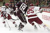 Alexander Kerfoot (Harvard - 14), Tim Harrison (Colgate - 19), Wiley Sherman (Harvard - 25) -  - The Harvard University Crimson defeated the visiting Colgate University Raiders 7-4 (EN) on Saturday, February 20, 2016, at Bright-Landry Hockey Center in Boston, Massachusetts.