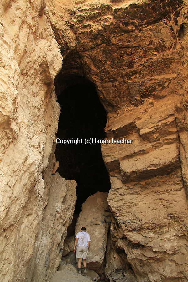 Judean desert, Murabaat Cave at Nahal Darga where the Bar Kochba scrolls were found
