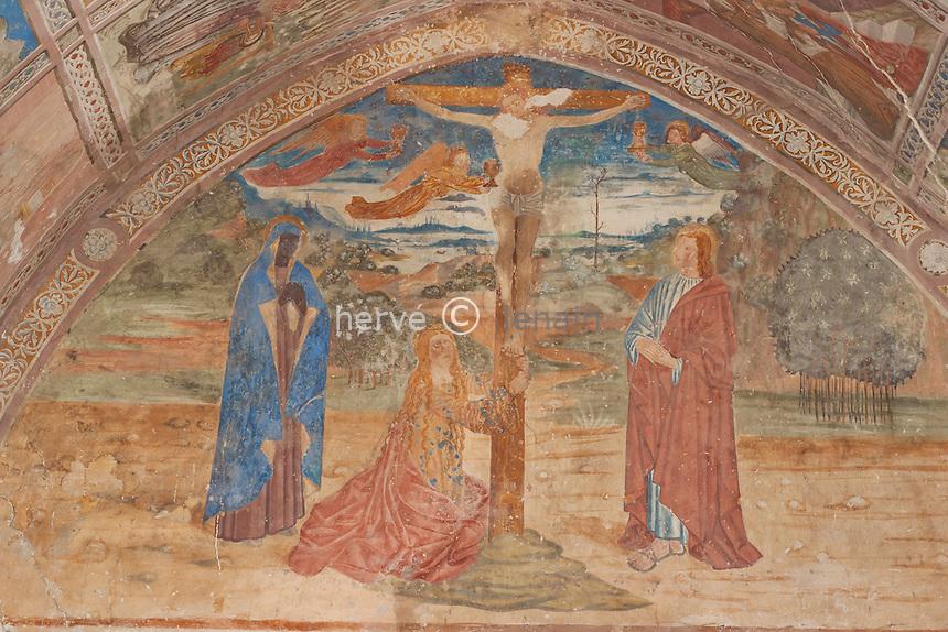 France, Alpes-Maritimes (06), Clans, chapelle Saint-Antoine-l'Ermite, les fresques // France, Alpes Maritimes, Clans, chapel St. Antoine l'Ermite, the frescoes