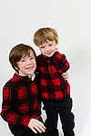 WATERBURY, CT- 10 December 2015-121015EC22-  Christmas Kids North. Liam Steck, 6, and his brother Eli, 2, are from Torrington. Their favorite part of Christmas is making gingerbread houses. Erin Covey Republican-American