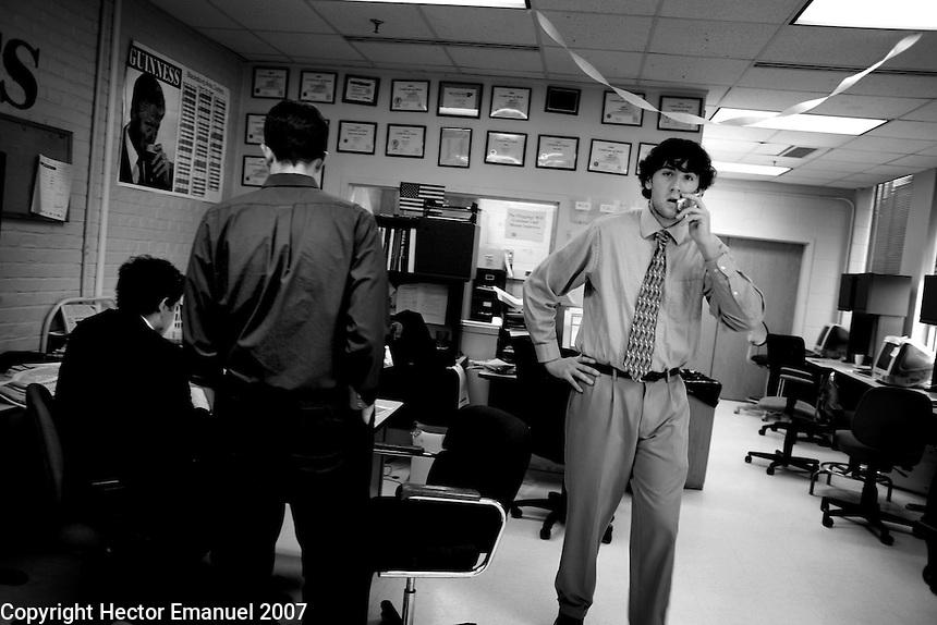 VATech shootings Day 2..Joe Kendall, Collegiate Times managing editor...photo: Hector Emanuel