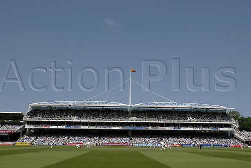 23 July 2004: General view looking towards the grandstand during day 2 of the first test between England and the West Indies at Lords. Photo: Neil Tingle/actionplus..040723 venue cricket ground
