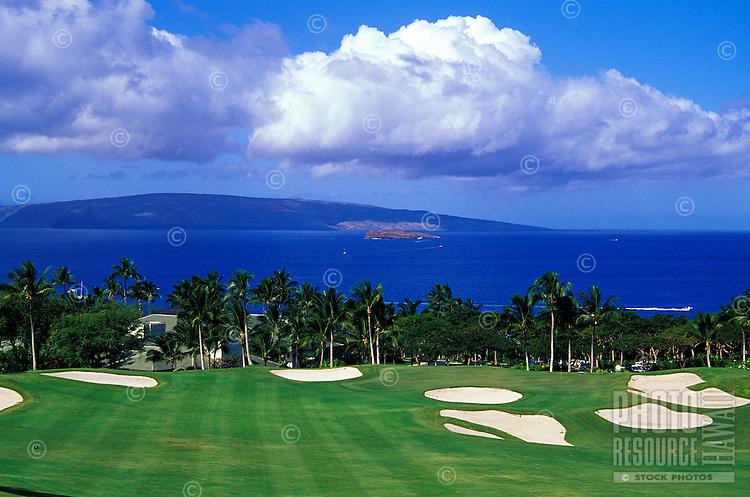 Hole No. 18 of the Wailea Emerald golf course on Maui