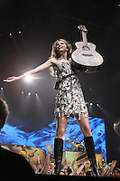 Taylor Swift performs in concert at the John Paul Jones arena.