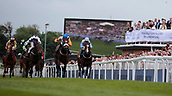 June 10th 2017, Chester Racecourse, Cheshire, England; Chester Races Horse racing Starlight Romance ridden by Adam McNamara runs to the line to win the Liverpool Gin Stakes