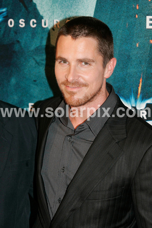 "**ALL ROUND PICTURES FROM SOLARPIX.COM**.**WORLDWIDE SYNDICATION RIGHTS** AND NO PUBLICATION IN SPAIN**.The premiere for the Batman film ""Dark Knight"", held at the Cine Coliseum, Barcelona, Spain. 23rd July 2008..This pic: Christian Bale..JOB REF: 6905 MER       DATE: 23_07_2008.**MUST CREDIT SOLARPIX.COM OR DOUBLE FEE WILL BE CHARGED* *UNDER NO CIRCUMSTANCES IS THIS IMAGE TO BE REPRODUCED FOR ANY ONLINE EDITION WITHOUT PRIOR PERMISSION*"