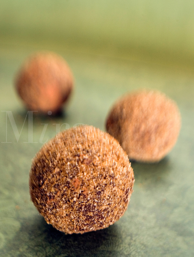 Chili Chocolate Truffles on Green