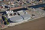 BT Convention Centre & Echo Arena Liverpool from the Air