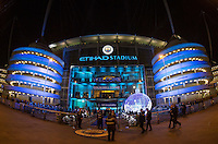 General view of the Stadium during the UEFA Champions League GROUP match between Manchester City and Celtic at the Etihad Stadium, Manchester, England on 6 December 2016. Photo by Andy Rowland.